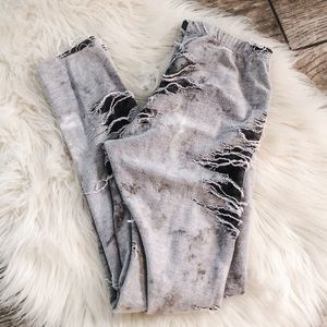 Distressed Gray Leggings Size Small
